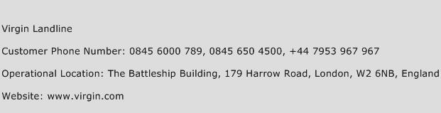 Virgin Landline Phone Number Customer Service