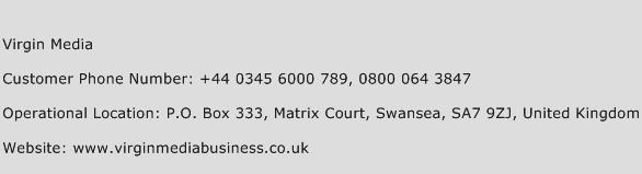 Virgin Media Phone Number Customer Service