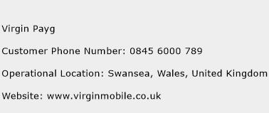 Virgin Payg Phone Number Customer Service