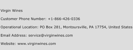 Virgin Wines Phone Number Customer Service