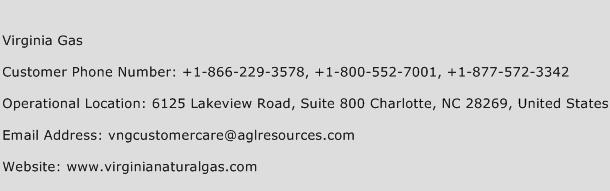 Virginia Gas Phone Number Customer Service