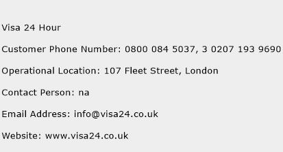 Visa 24 Hour Phone Number Customer Service