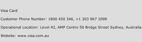 Visa Card Phone Number Customer Service