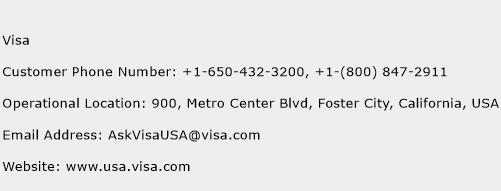 Visa Phone Number Customer Service