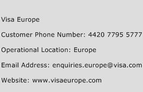 visa europe customer service number toll free phone number of visa europe. Black Bedroom Furniture Sets. Home Design Ideas