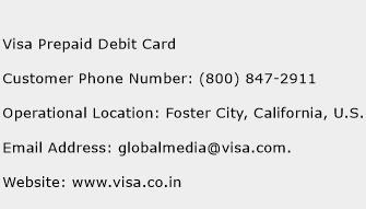 Visa Prepaid Debit Card Phone Number Customer Service