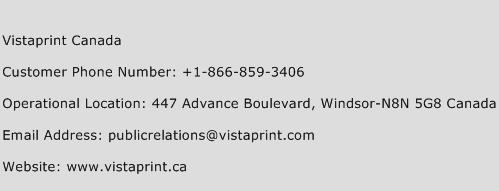 Vistaprint Canada Number | Vistaprint Canada Customer