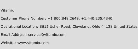 Vitamix Phone Number Customer Service