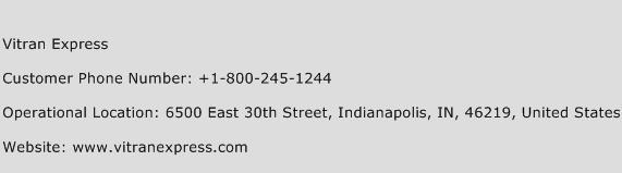 Vitran Express Phone Number Customer Service