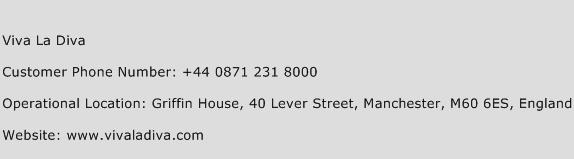 Viva La Diva Phone Number Customer Service