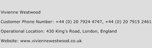 Vivienne Westwood Phone Number Customer Service