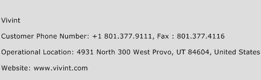 Vivint Phone Number Customer Service