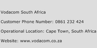 Vodacom South Africa Phone Number Customer Service
