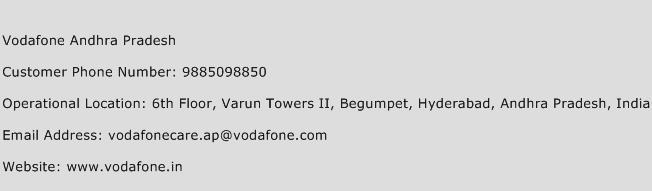 Vodafone Andhra Pradesh Phone Number Customer Service