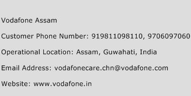 Vodafone Assam Phone Number Customer Service