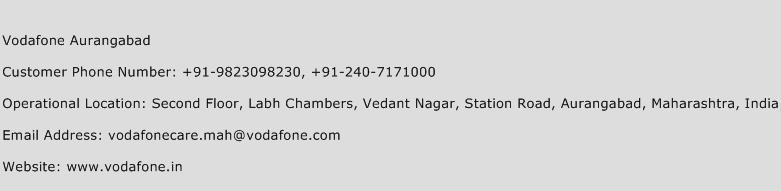 Vodafone Aurangabad Phone Number Customer Service
