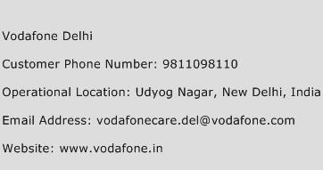 Vodafone Delhi Phone Number Customer Service