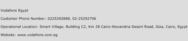 Vodafone Egypt Phone Number Customer Service