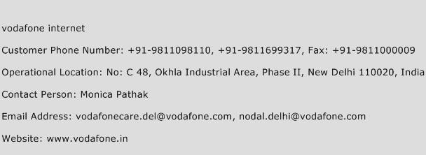 Vodafone Internet Phone Number Customer Service