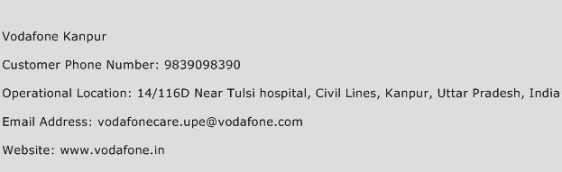 Vodafone Kanpur Phone Number Customer Service