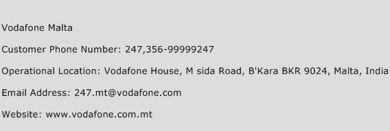 Vodafone Malta Phone Number Customer Service