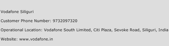 Vodafone Siliguri Phone Number Customer Service
