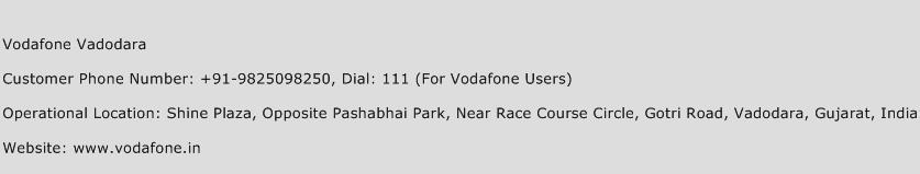 Vodafone Vadodara Phone Number Customer Service