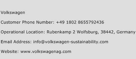 Volkswagen Phone Number Customer Service