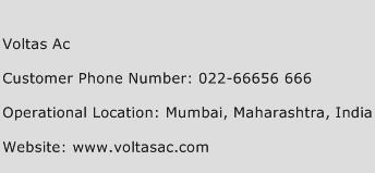 Voltas Ac Phone Number Customer Service