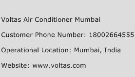 Voltas Air Conditioner Mumbai Phone Number Customer Service