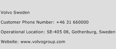 Volvo Sweden Phone Number Customer Service