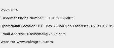 Volvo USA Phone Number Customer Service