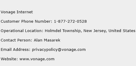 Vonage Internet Phone Number Customer Service