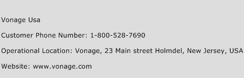 Vonage Usa Phone Number Customer Service