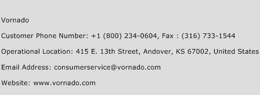 Vornado Phone Number Customer Service