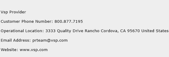 Vsp Provider Phone Number Customer Service