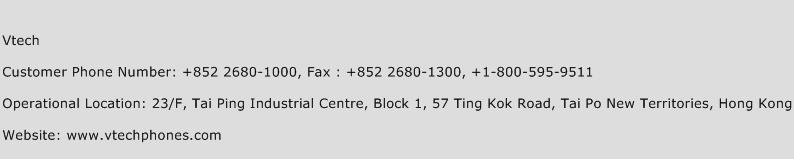 Vtech Phone Number Customer Service