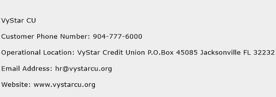 VyStar CU Phone Number Customer Service