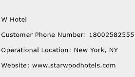 W Hotel Phone Number Customer Service