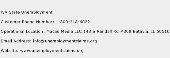 WA State Unemployment Phone Number Customer Service