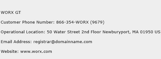 WORX GT Phone Number Customer Service