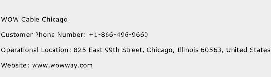 WOW Cable Chicago Phone Number Customer Service