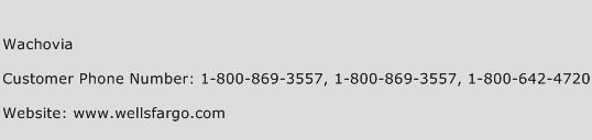 Wachovia Phone Number Customer Service