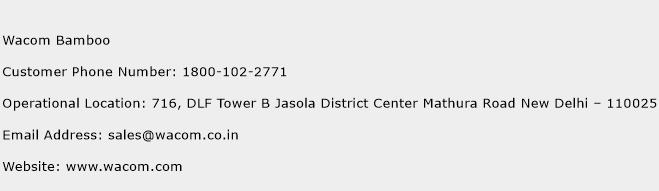 Wacom Bamboo Phone Number Customer Service
