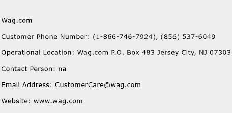 Wag.com Phone Number Customer Service