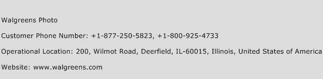 Walgreens Photo Phone Number Customer Service