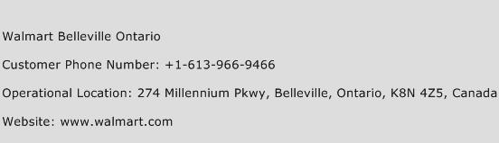 Walmart Belleville Ontario Phone Number Customer Service