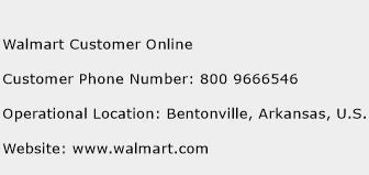 walmart 800 number