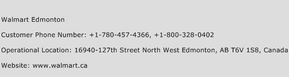 Walmart Edmonton Phone Number Customer Service