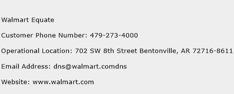 Walmart Equate Phone Number Customer Service